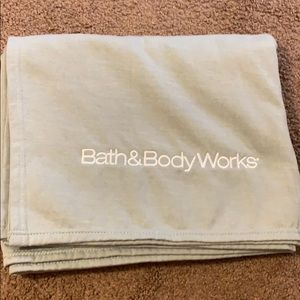 Bath and Body Works throw blanket.